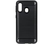 Brushed Backcover Samsung Galaxy A40 - Zwart