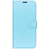 Basic Litchi Booktype Huawei P Smart Plus (2019) - Blauw