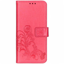 Klavertje Bloemen Booktype Sony Xperia 10 - Roze