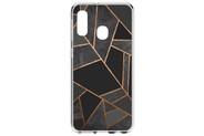 Design Backcover voor de Samsung Galaxy A20e - Grafisch Zwart / Koper