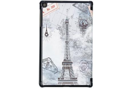 Design Hardcase Bookcase voor Samsung Galaxy Tab A 10.1 (2019) - Parijs