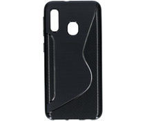 S-line Backcover Samsung Galaxy A20e - Zwart