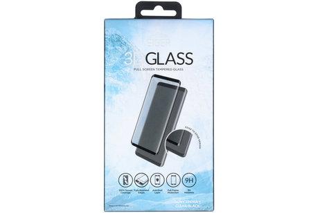 Eiger Tempered Glass Screenprotector voor de Sony Xperia 1 - Zwart