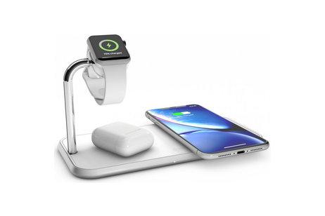 Zens Dual + Watch Aluminium Wireless Charger 2 x 10W - Wit