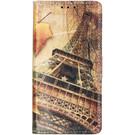Design Softcase Booktype voor de Samsung Galaxy A20e - Parijs Maple Leaves