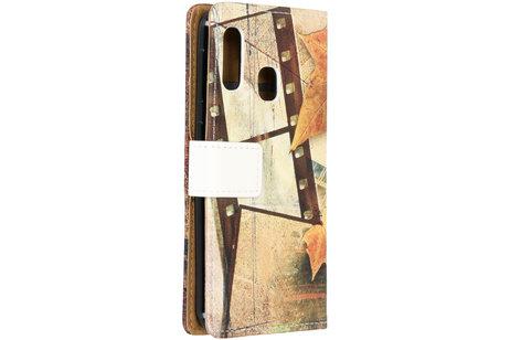 Samsung Galaxy A20e hoesje - Design Softcase Booktype voor