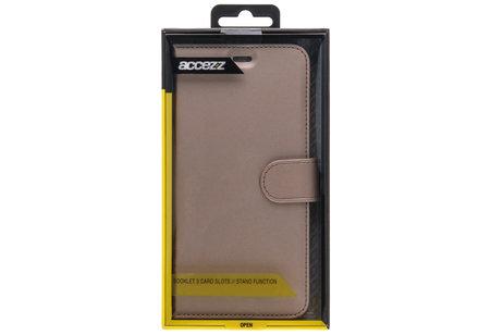 Accezz Wallet Softcase Booktype voor iPhone X / Xs - Goud