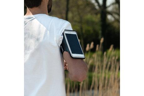 Zwarte sportarmband voor de iPhone Xr