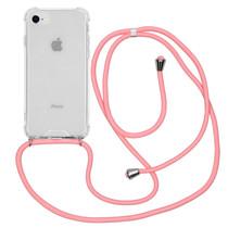 iMoshion Backcover met koord iPhone SE (2020) / 8 / 7 - Roze