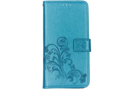 Samsung Galaxy A80 hoesje - Klavertje Bloemen Booktype voor