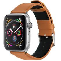 iMoshion Effen Lederen bandje Apple Watch 40 / 38 mm