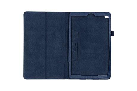 Effen Bookcase voor de Samsung Galaxy Tab A 10.1 (2019) - Donkerblauw