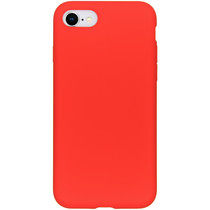 Accezz Liquid Silicone Backcover iPhone SE (2020) / 8 / 7 - Rood