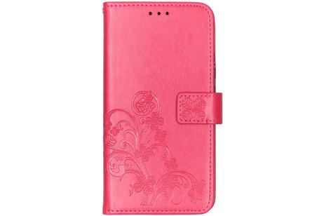 Huawei P Smart Z hoesje - Klavertje Bloemen Booktype voor