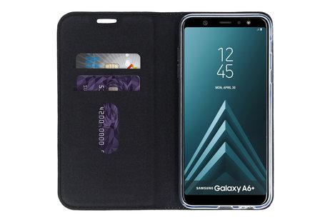 Design Siliconen Booktype voor de Samsung Galaxy A6 Plus (2018) - Grafisch Blauw