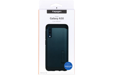 Spigen Slim Armor Backcover voor de Samsung Galaxy A50 / A30s - Grijs
