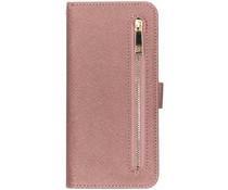 Luxe Booktype met rits Samsung Galaxy A70 - Rosé Goud