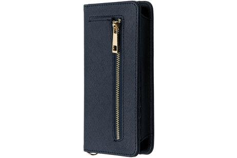 Blauw universeel Pretty portemonnee hoesje