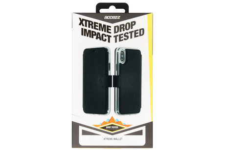 Accezz Xtreme Wallet Booktype voor OnePlus 6 - Zwart