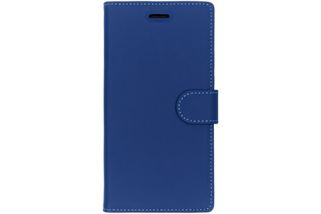 Accezz Wallet Softcase Booktype voor Sony Xperia XZ Premium - Donkerblauw