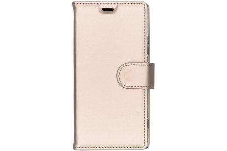 Accezz Wallet Softcase Booktype voor Sony Xperia XA2 - Goud
