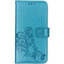 Klavertje Bloemen Booktype Huawei P Smart Z - Turquoise