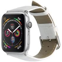 iMoshion Krokodil leder bandje Apple Watch 44 / 42 mm - Wit