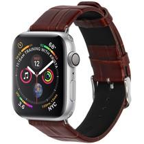 iMoshion Krokodil leder bandje Apple Watch 40 / 38 mm - Bruin