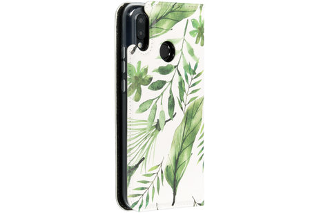 Huawei P20 Lite hoesje - Accezz Design Siliconen Booktype