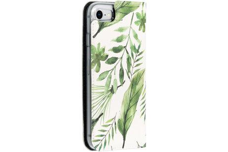 Accezz Design Siliconen Booktype voor de iPhone 8 / 7 - Monstera Leafs