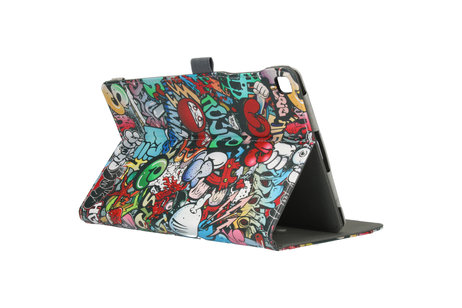 Design Bookcase voor de Samsung Galaxy Tab A 10.1 (2019) - Graffiti