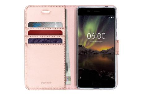 Accezz Wallet Softcase Booktype voor Nokia 5 - Rosé goud