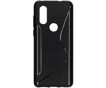 S-line Backcover Motorola One Vision - Zwart