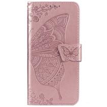 Vlinder Softcase Booktype Honor 20 Pro - Rosé Goud