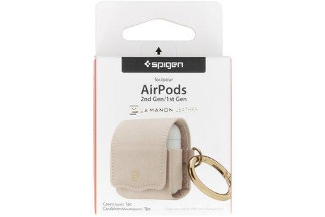 Apple AirPods hoesje - Spigen La Manon Leather
