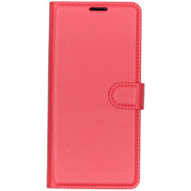 Basic Litchi Booktype Wiko View 3 Pro - Rood