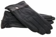 iMoshion Echt lederen touchscreen handschoenen met bandje - Maat XXL