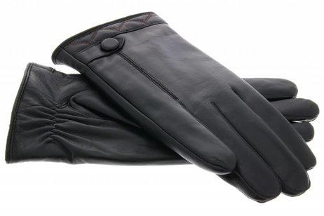 iMoshion Echt lederen touchscreen handschoenen met knoop - Maat XXL
