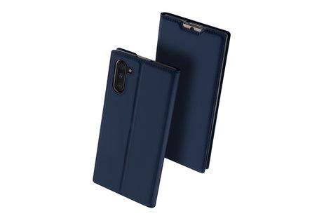 Dux Ducis Slim Softcase Booktype voor de Samsung Galaxy Note 10 - Donkerblauw