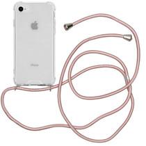 iMoshion Backcover met koord iPhone SE (2020) / 8 / 7 - Rosé Goud