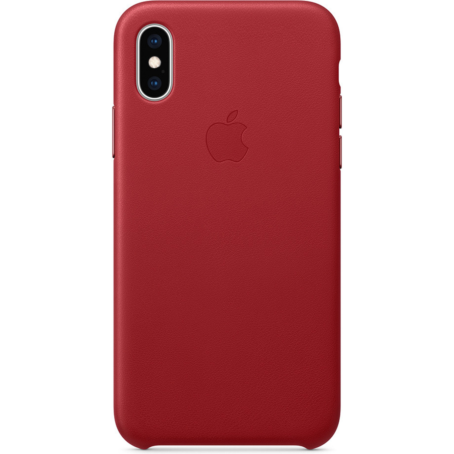 Leather Backcover voor iPhone Xs Max Red