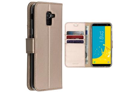Accezz Wallet Softcase Booktype voor Samsung Galaxy J6 - Goud