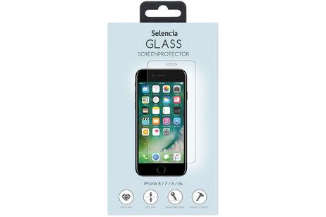 Selencia Gehard Glas Screenprotector + Softcase Backcover voor de iPhone 7 / 8 - Transparant