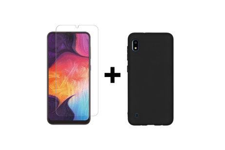 Samsung Galaxy A10 hoesje - Selencia Gehard Glas Screenprotector