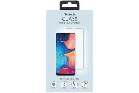 Samsung Galaxy A20e hoesje - Selencia Gehard Glas Screenprotector