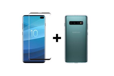 Samsung Galaxy S10 Plus hoesje - Selencia Gehard Glas Screenprotector