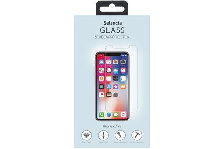 Selencia Gehard Glas Screenprotector + Softcase Backcover voor de iPhone X / Xs - Transparant
