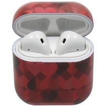 Hardcover Case voor AirPods - Rode Hartjes