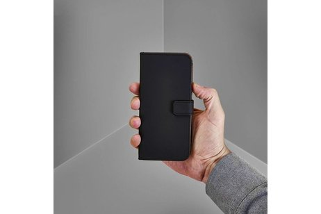 Selencia Luxe Softcase Booktype voor Huawei Y6 Pro (2017) / P9 Lite Mini - Zwart