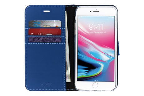 Accezz Wallet Softcase Booktype voor iPhone 8 Plus / 7 Plus - Donkerblauw